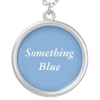 Something Blue bridal necklace