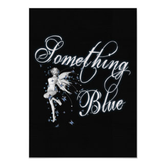 "Something Blue Butterfly Fairy - Original 4.5"" X 6.25"" Invitation Card"