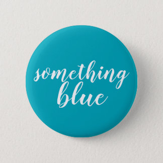"""""""Something blue"""" button for a bride on wedding day"""
