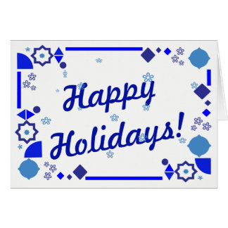 Something Blue Holiday Card