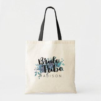 Something Blue Watercolor Wedding Bride Tribe Tote Bag