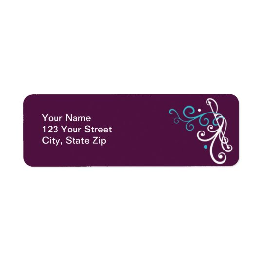 Something Blue Wedding Return Address Labels