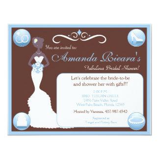 Something Chocolate, Something Blue 11 Cm X 14 Cm Invitation Card