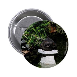 Something Fishy in the Garden 6 Cm Round Badge