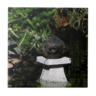 Something Fishy in the Garden Ceramic Tile