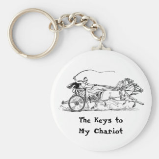 "Something for your ""Chariot"" Keys! Basic Round Button Key Ring"