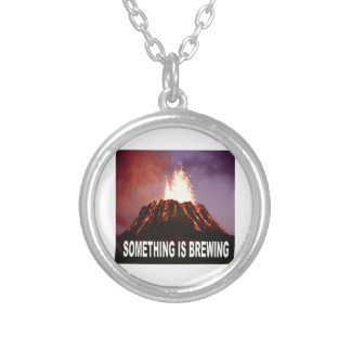 Something is brewing silver plated necklace