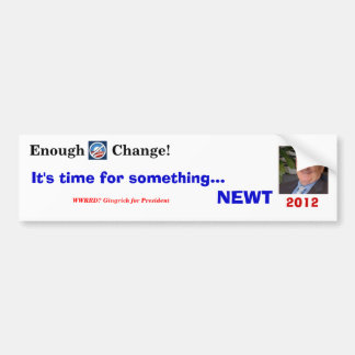 Something NEWT Bumper Sticker