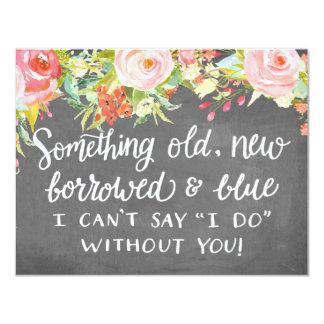 Something Old New Borrowed | Bridesmaid 11 Cm X 14 Cm Invitation Card