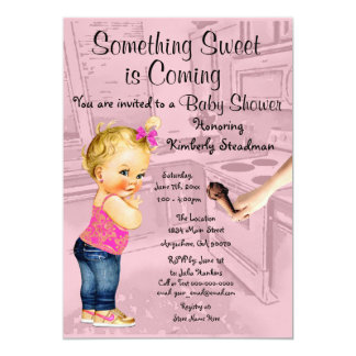 Something Sweet is Coming Baby Shower Invitation