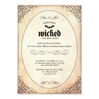 Something Wicked Halloween Party Invitation