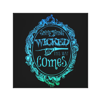 Something Wicked This Way Comes Blue Wall Art