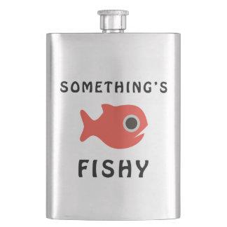 Somethings Fishy Red Fish Hip Flask