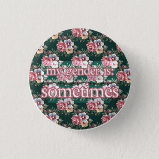 sometimes 3 cm round badge
