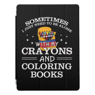 Sometimes I Alone Crayon Coloring Book iPad Pro Cover