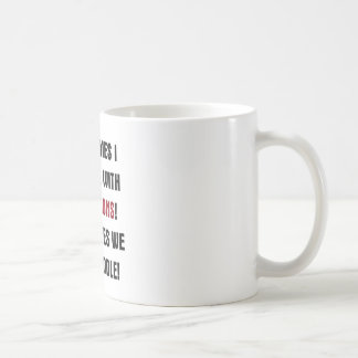 sometimes i wrestle with my demons coffee mug