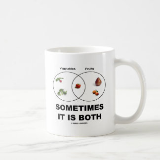 Sometimes It Is Both (Vegetables Fruits Attitude) Coffee Mugs