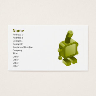 Sometimes Robots Get Sad Profile Card Template