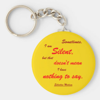 Sometimes Silent Key Ring