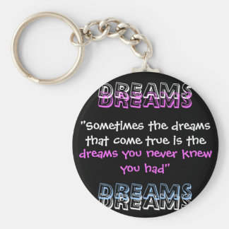 """Sometimes the dreams that come true is the , D... Basic Round Button Key Ring"