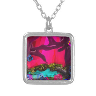 Sometimes the nature dress up silver plated necklace