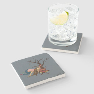 """Somewhat Portable Christmas Tree"" Coasters"