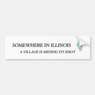 SOMEWHERE IN ILLINOIS, A VILLAGE IS M... BUMPER STICKER