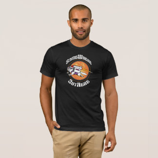 SomeWhere OutHere - Black Shirt Flying Cat Design