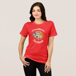 SomeWhere OutHere - Red Shirt w Flying Cat Design