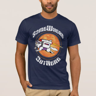 SomeWhere OutHere - T-Shirt with Flying Cat Design