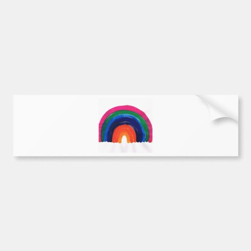somewhere over the rainbow customise & personalise bumper stickers
