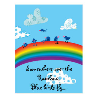 Somewhere over the rainbow postcard