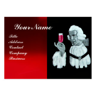 SOMMELIER WINE TASTING  PARTY,RED WAX SEAL,Pearl Business Cards