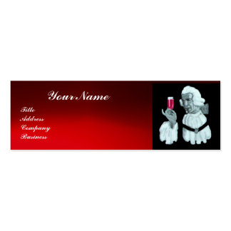 SOMMELIER WINE TASTING  PARTY,RED WAX SEAL,Pearl Business Card Templates