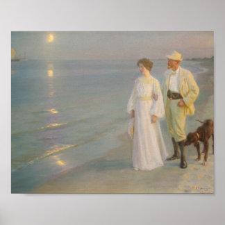 Sommeraften ved Skagens Strand Poster