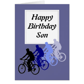 Son, Birthday, Bike, Cycle Funny From Parent Card
