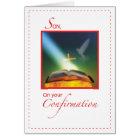 Son Confirmation Dove, Bible, Cross Card