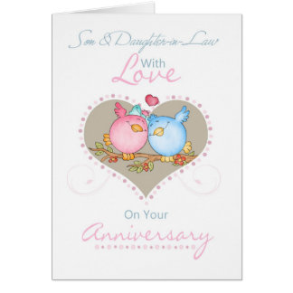 Son & Daughter-In-Law Anniversary Card With Love B