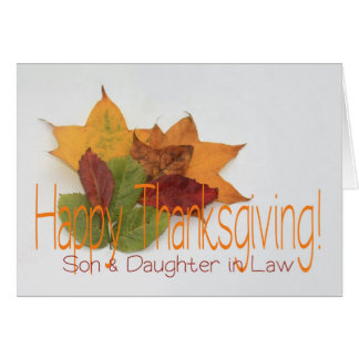 Son & Daughter in Law  thanksgiving foliage Card