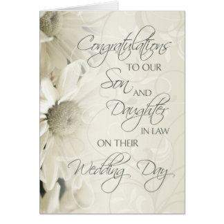 Son & Daughter In Law Wedding Congratulations Card