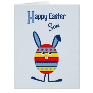 Son Easter egg bunny blue Big Greeting Card