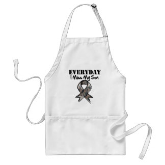 Son - Everyday I Miss My Hero Military Standard Apron