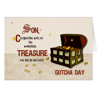 Son Gotcha Day with Pirate Treasure Card