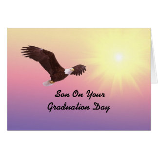 Son Graduation Eagle Card