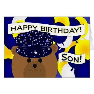 Son - Happy Birthday Navy Active Duty! Greeting Card