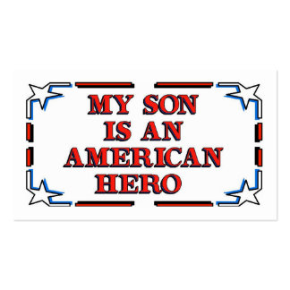 Son Hero Pack Of Standard Business Cards