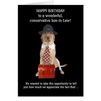 Son-in-Law/Brother-in-Law Card