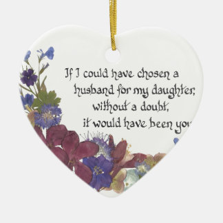 Son-in-Law gift Ceramic Ornament