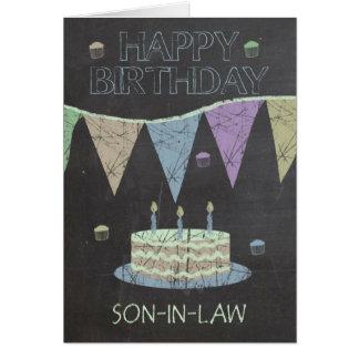 Son-in-Law Trendy Chalk Board Effect, Card