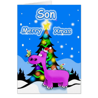 Son Merry Christmas Greeting Card